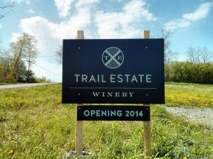 Our troopers couldn't get in to explore this new found star - Trail Estate Winery. Word is the runners will!