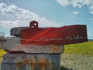 Can you see the force amongst the sign? Norman Hardie Winery - the finish line!